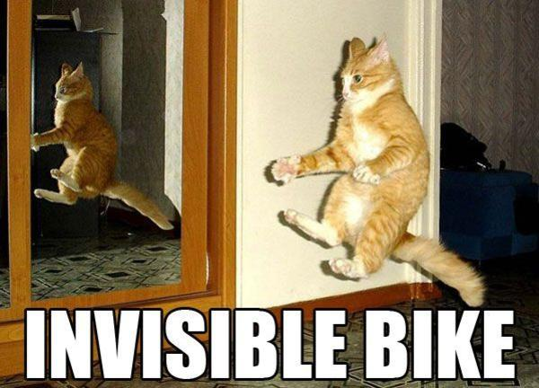 Invisible bike Sled Meme