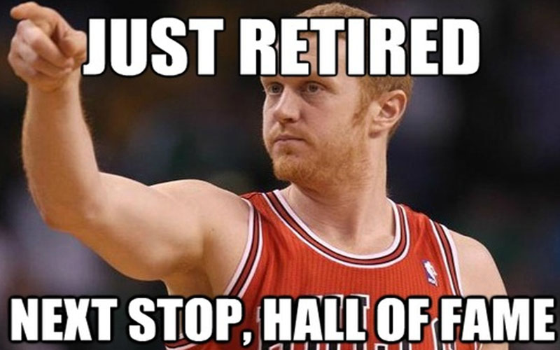 Just retired next stop hall of fame Sports Meme