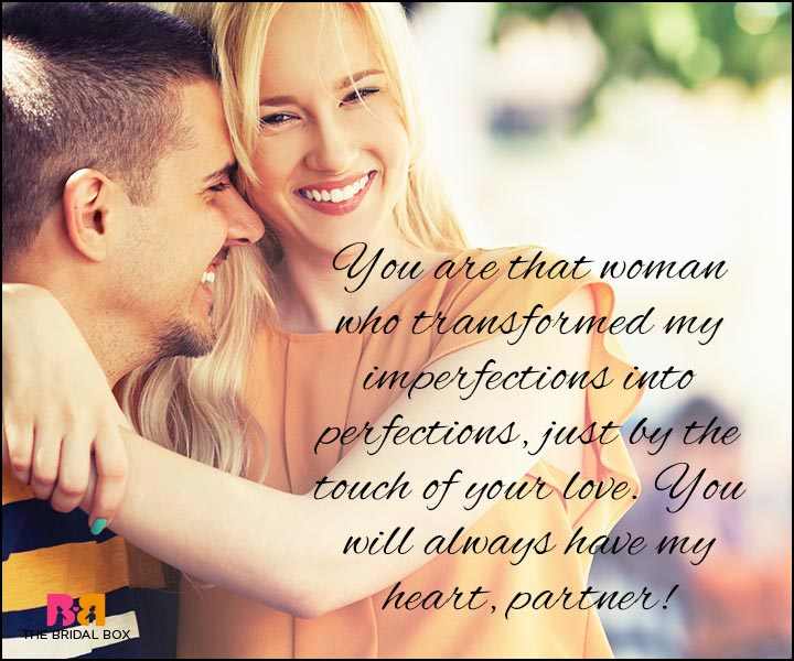 Love Quotes For Wife you are that woman who transformed