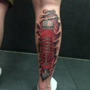 Lovely Calf Tattoo On leg 3d tattoo