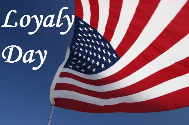 Loyalty Day Celebrations American Flag Wallpaper