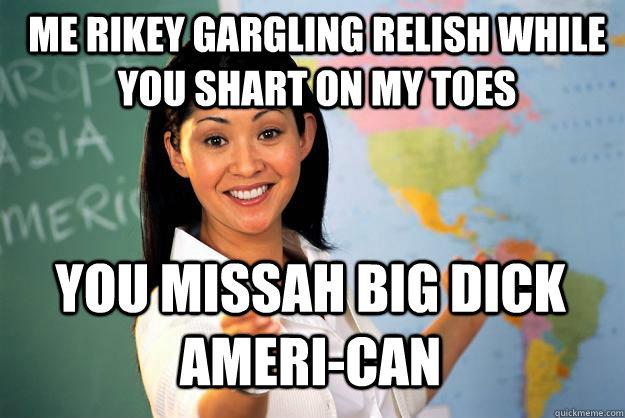 Me riskey gargling relish while you shart on Shart Meme