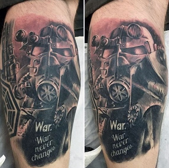 Motivational Fallout Tattoos On arm for Guy