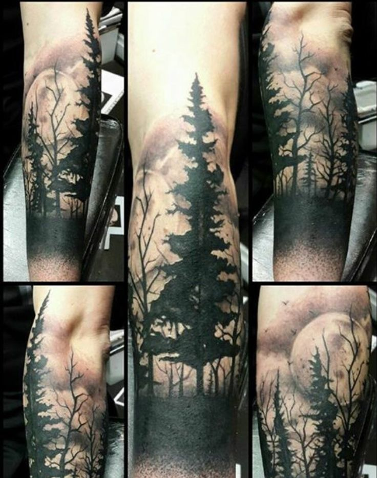 Motivational Forest Tattoos On Arm for boy For girl