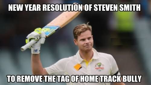 New year resolution of steven smith Sports Meme