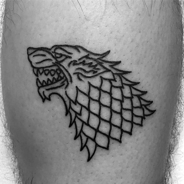 Nice Game Of Thrones Tattoos On leg for men
