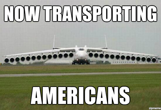 Now transporting americans Plane Meme