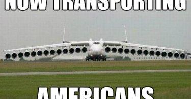Now transporting americans Plane Meme