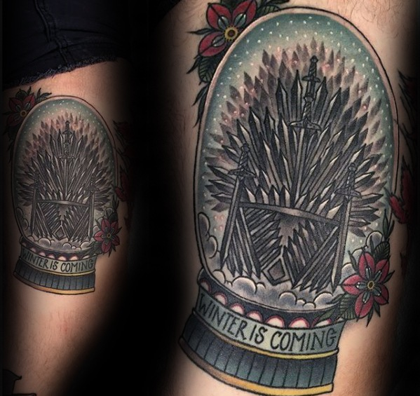 Perfect Game Of Thrones Tattoos On rib side for men