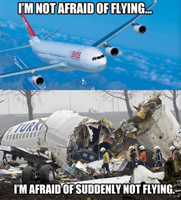 Plane Meme I'm not afraid of flying I'm afraid of suddenly