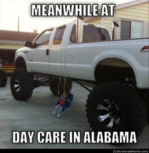 Redneck Memes Meanwhile at day care in alabama