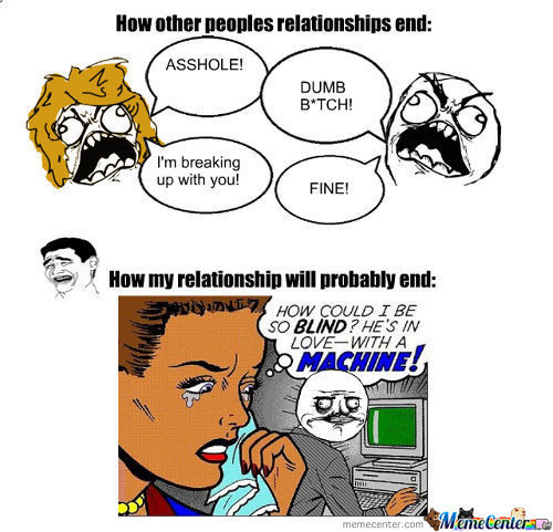 Relationship Meme How other peoples relationships end asshole