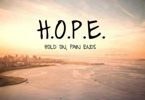 Short Love Quotes hope hold on pain ends