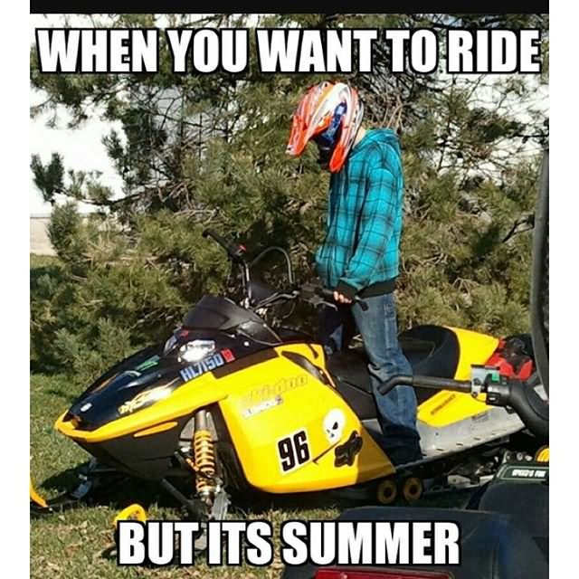 Sled Meme When you want to ride but its summer