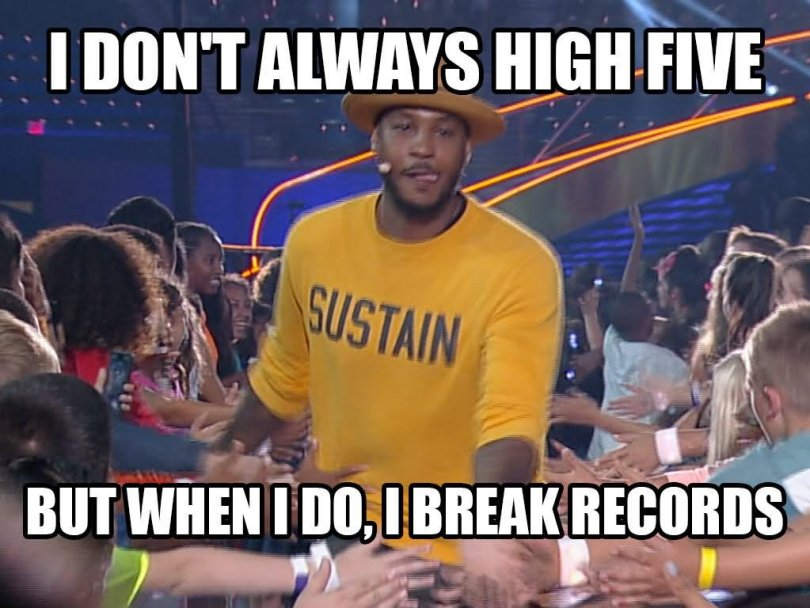 Sports Meme I don't always high five but when
