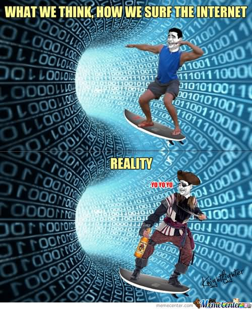 Surfing Meme What we think how we surf the internet