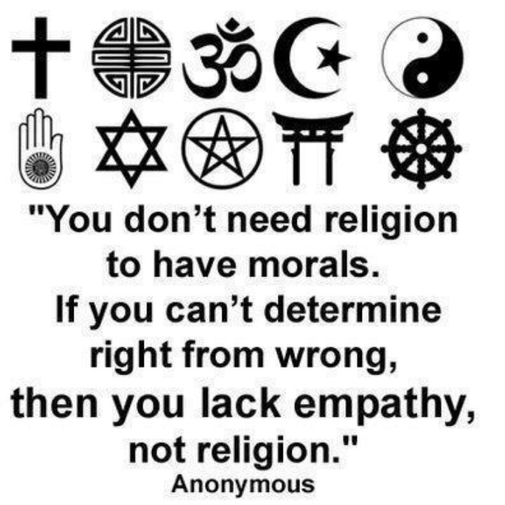 Tbt Quotes You don't need religion to have morals