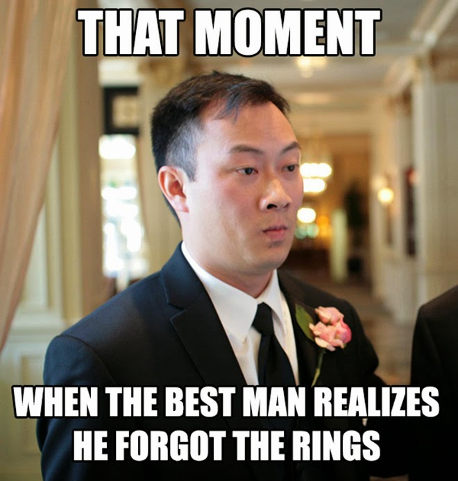 That moment when the best man realizes he Wedding Meme