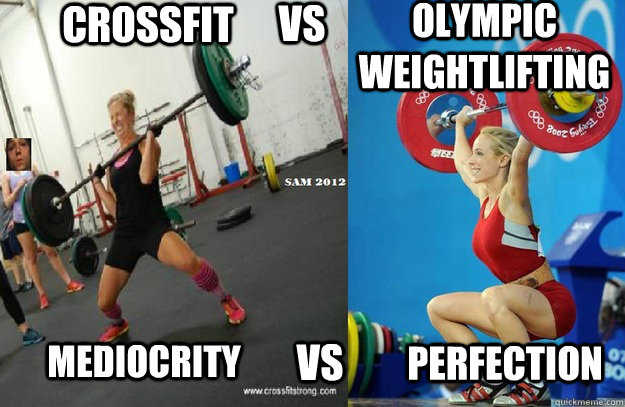 Weightlifting Memes Crossfit vs mediocrity