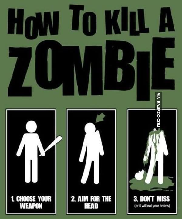 Zombie Meme How to kill a zombie