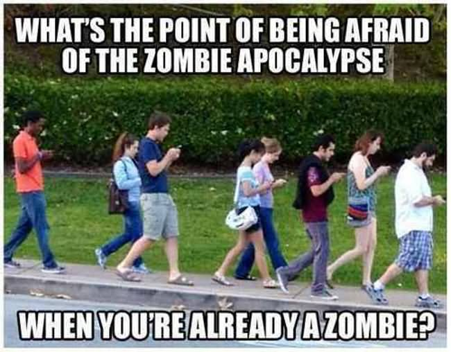 Zombie Meme What's the point of being afraid of the