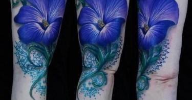 Blue Ink Tattoos