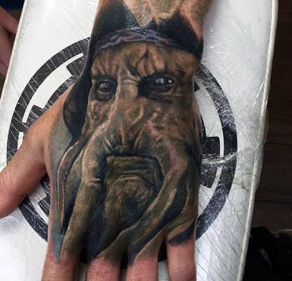 Davy Jones Tattoos