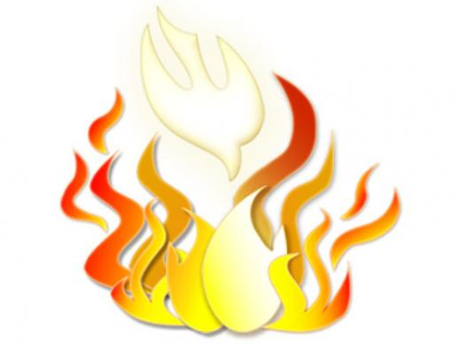 Fire Pentecost Clipart Image
