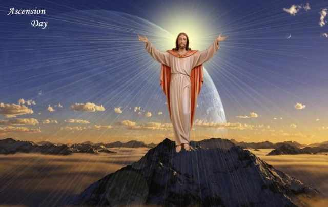 Happy Ascension Day Jesus Wishes Wallpaper