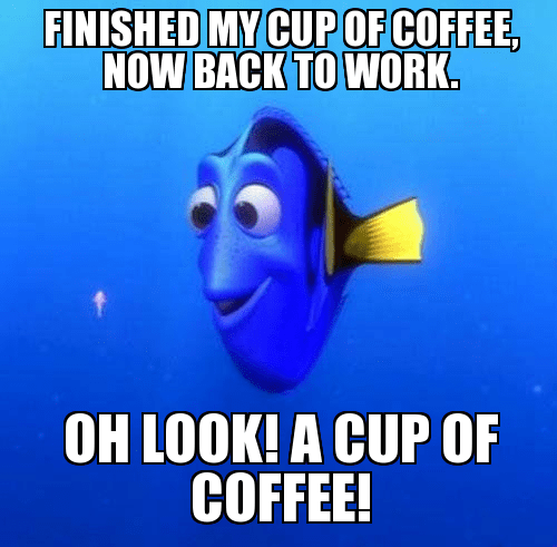 Funny Meme Wednesday : Wednesday work meme finished my cup of coffee now back to