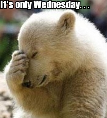 Wednesday Work Meme it's only Wednesday...