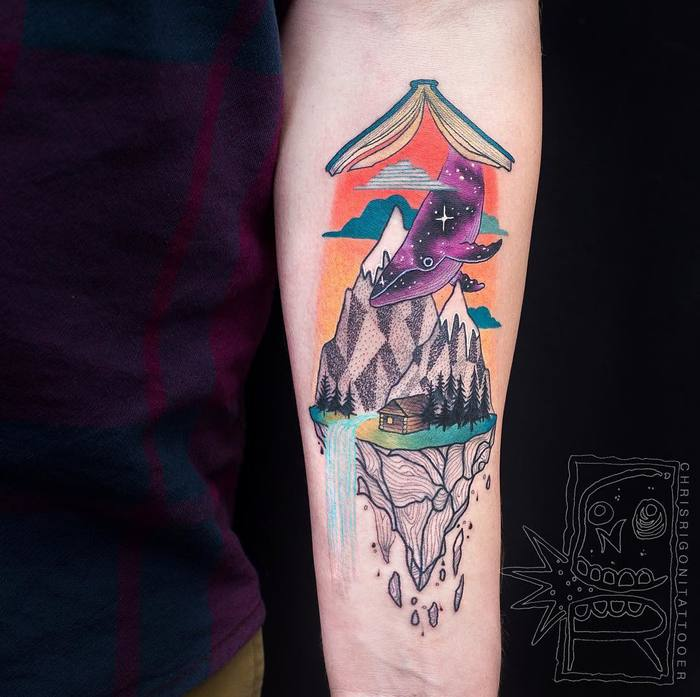 21 Amazing Surreal Tattoos by Chris Rigoni