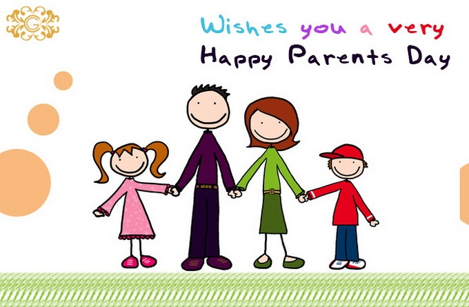 Cute Happy Parents Day Greetings Card Picture