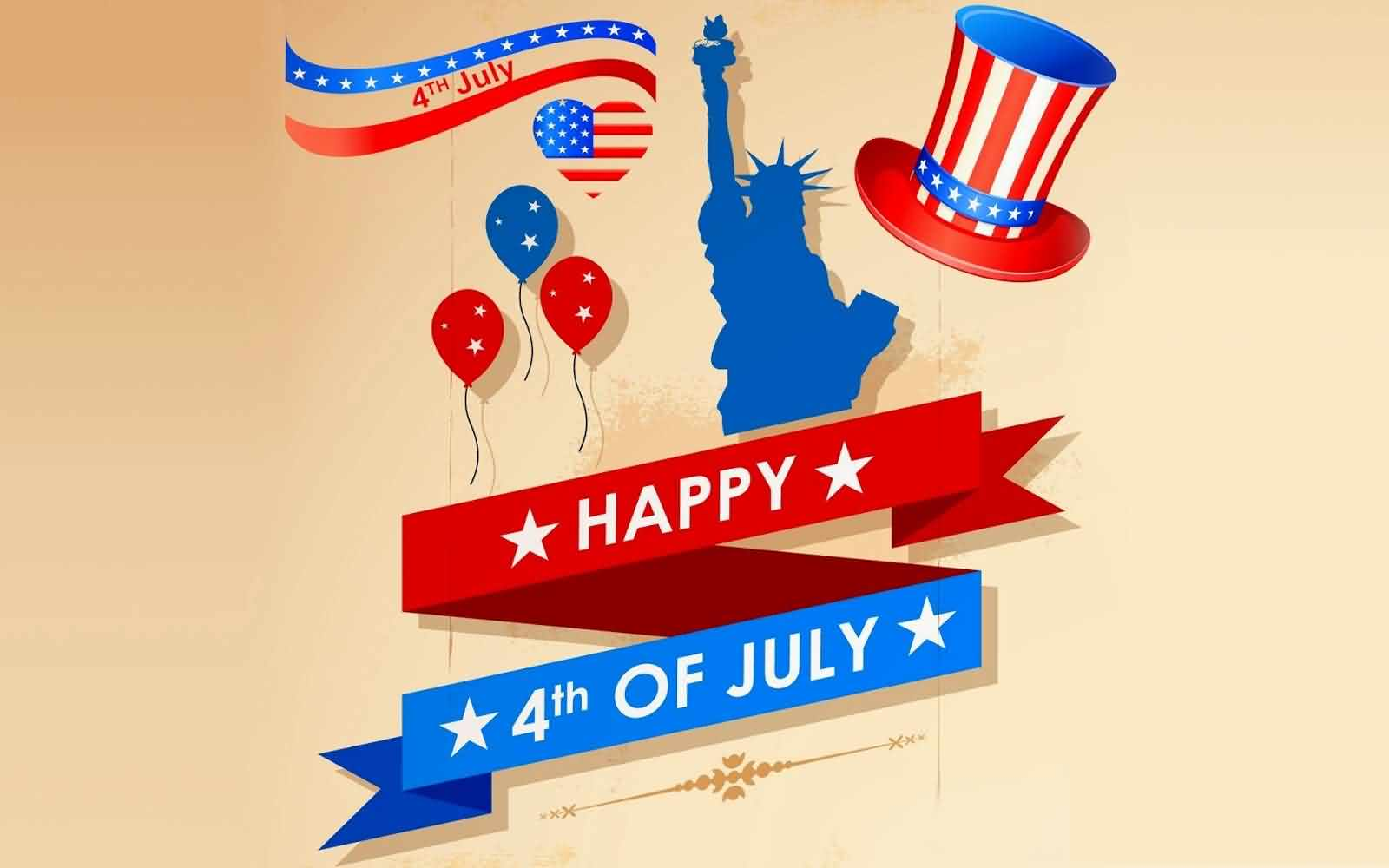 Declaration of Independence 241 years ago on July 4, 1776 Greetigns Message Image