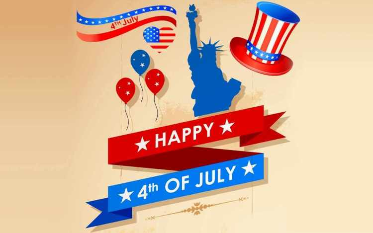 Declaration of Independence 241 years ago on July 4, 1776 Greetings Message Image