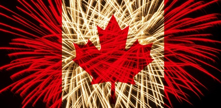 Fireworks On Celebrating Canada Day Wishes Message Image