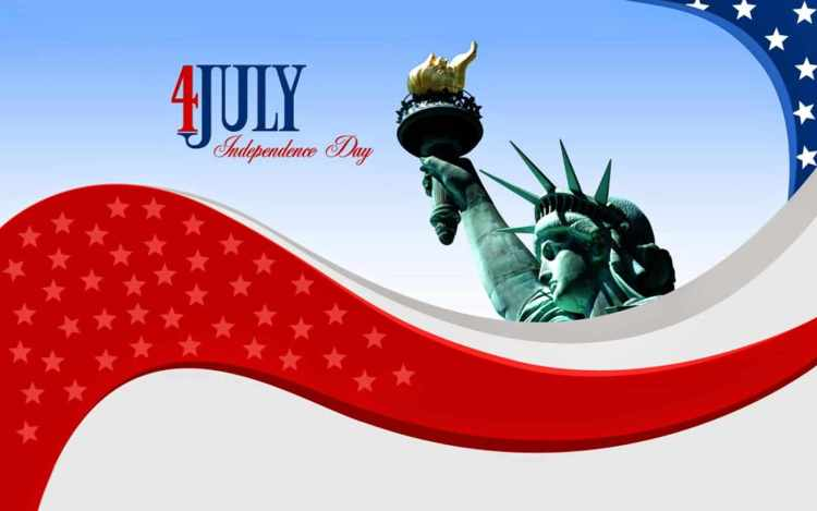 Fourth of July Wishes Message And Greetings Card Image
