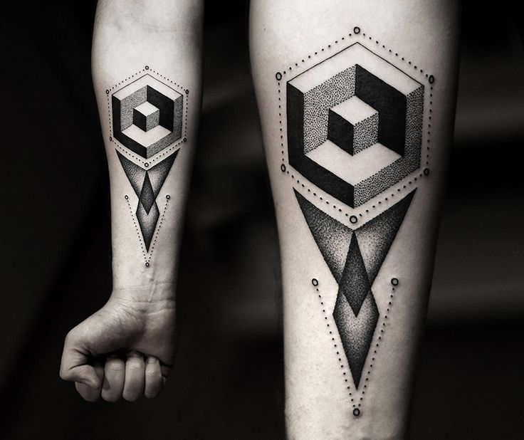 Geometric Abstract Tattoos