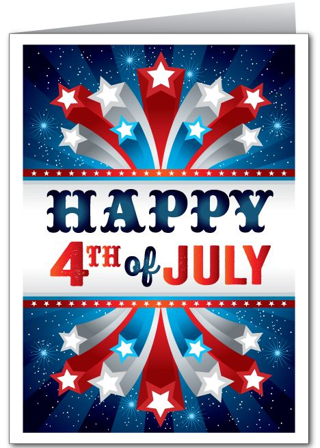 God Bless America Happy 4th July Greetings Card Wishes Image