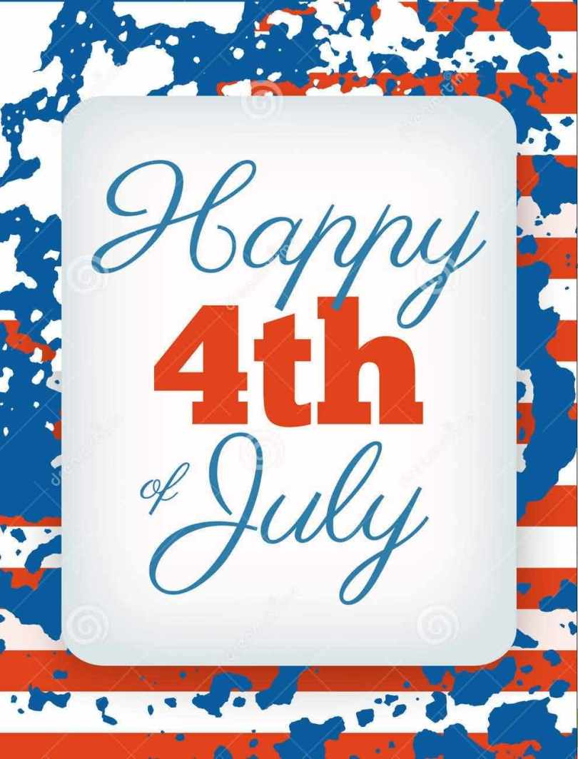 Happy Independence Day 4th July Greeting Card Image