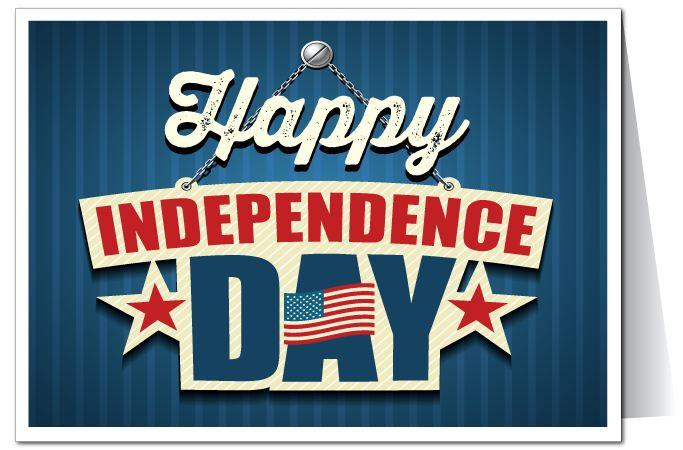 Happy Independence Day America 4th Of July Greetings Card Image
