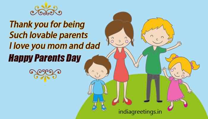 Happy Parents Day I Love You Mom And Day You are The Best Wishes Message