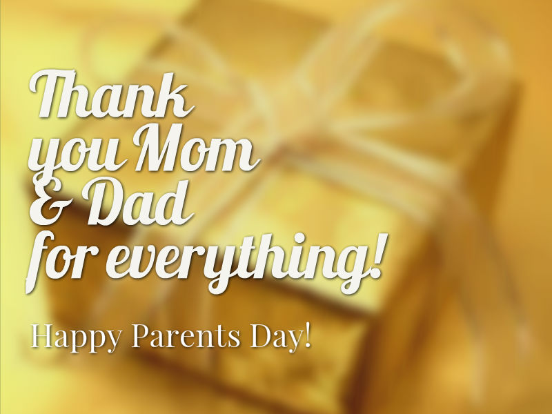 Happy Parents Day Your Strength And Love Has Guided me Wishes Message Image