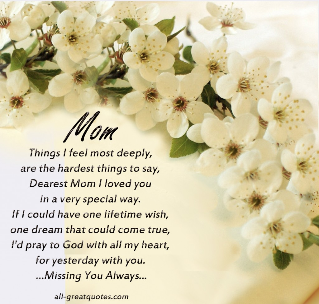 In Loving Memory Quotes In Loving Memory Quotes For Mom  Picsmine