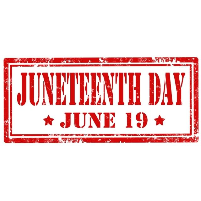 Juneteenth 19th June Logo Image