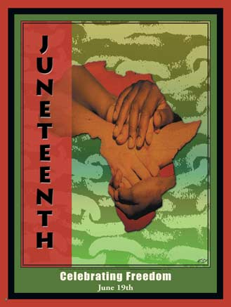 Juneteenth Celebrating's Freedom June Greetings Card Image