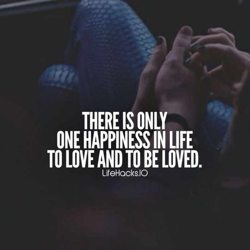 Love Quotes There Is Only One Happiness In Life