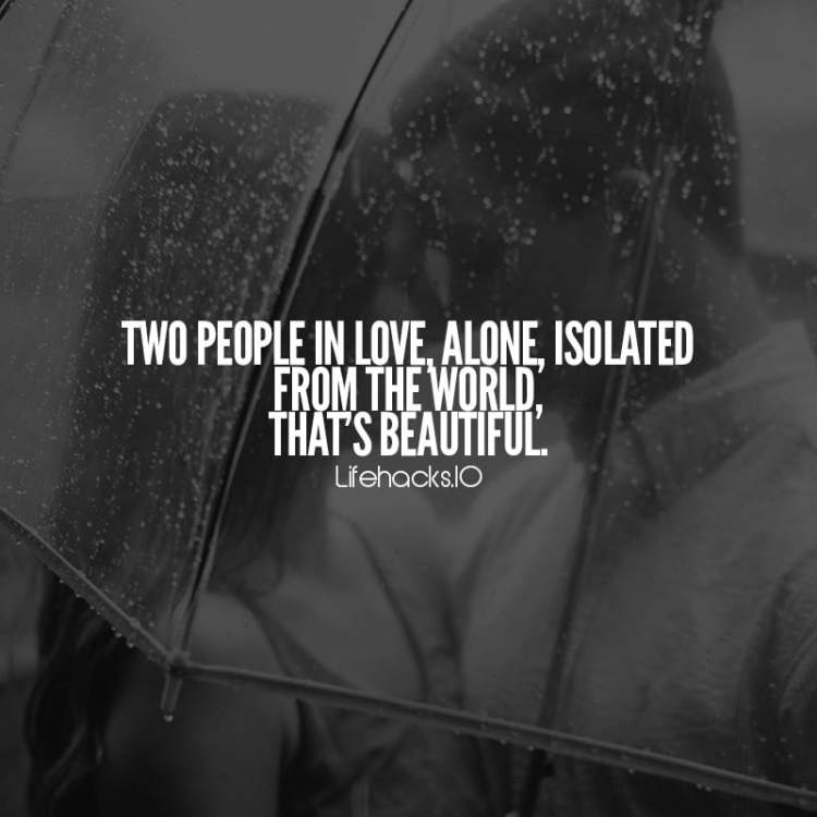 Love Quotes Two People In Love, Alone