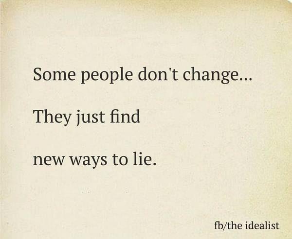 Never Trust Sayings