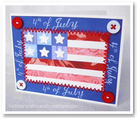 Wishing You A Very Happy 4th Of July Greetings Card Image